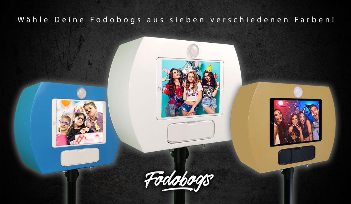 Fotobox verschiedene Farben